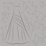 Иллюстрация платья свадьбы Стоковые Изображения RF