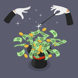 Иллюстрация плоского вектора легких денег равновеликая иллюстрация вектора