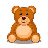 Иллюстрация плюшевого медвежонка иллюстрация вектора