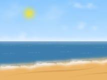 Иллюстрация пляжа Стоковые Фото