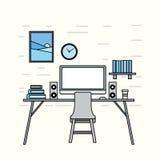 Иллюстрация рабочего места Стоковое Изображение RF