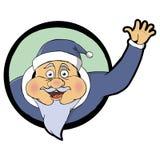 Иллюстрация развевать Санта Клауса Стоковое фото RF