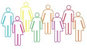 Иллюстрация разнообразия рода Стоковое Изображение RF