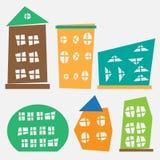 Иллюстрация различных и зданий Стоковые Фотографии RF
