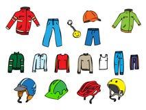 Иллюстрация различных одежд Стоковое фото RF