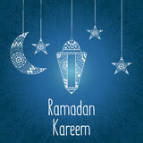 Иллюстрация Рамазан Kareem вектора иллюстрация штока