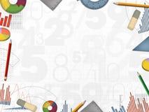 Иллюстрация рамки предпосылки номеров дела финансовая иллюстрация вектора