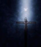 Иллюстрация распятия Иисуса Христоса Стоковая Фотография