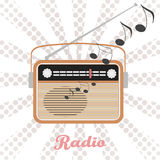 Иллюстрация радио вектора Стоковые Изображения