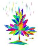 Иллюстрация радуги лист осени Стоковая Фотография RF