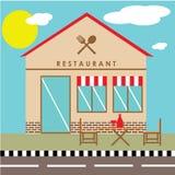 Иллюстрация ресторана стоковая фотография