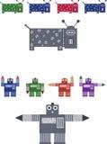 Иллюстрация робота собаки и мальчика - JPEG и vecto Стоковые Фотографии RF