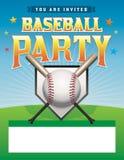 Иллюстрация рогульки партии бейсбола Стоковое Изображение