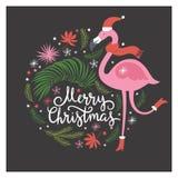Иллюстрация рождества, рождественская открытка Стоковое фото RF