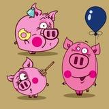 Иллюстрация розовых свиней Стоковое фото RF