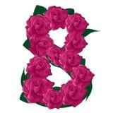 Иллюстрация роз 8 милая розовая Стоковая Фотография