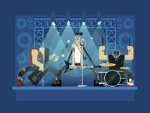 Иллюстрация рок-группы Стоковые Фото