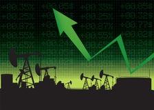 Иллюстрация роста цены на нефть Стоковые Фотографии RF