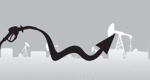 Иллюстрация роста цены нефтяных продуктов Стоковое Изображение RF
