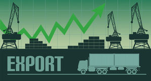 Иллюстрация роста экспорта Стоковое Изображение