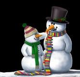 Иллюстрация друзей снеговиков Стоковые Изображения RF