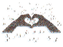 Иллюстрация рук показывая сердце стоковые изображения