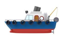 Иллюстрация рыбацкой лодки Стоковое Изображение