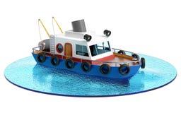 Иллюстрация рыбацкой лодки Стоковое фото RF