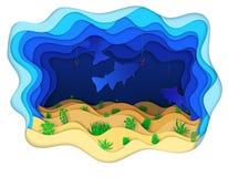 Иллюстрация рыбы есть приманку от червя Стоковое Фото