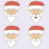 Иллюстрация Санта Клауса в различных эмоциях Стоковая Фотография RF