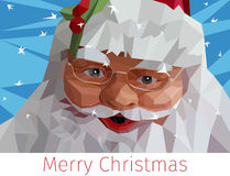 Иллюстрация Санта Клауса низкая поли Стоковое фото RF
