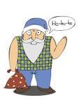 Иллюстрация Санта Клауса с сумкой подарков Стоковое Изображение