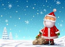 Иллюстрация Санта Клауса Стоковое Изображение RF