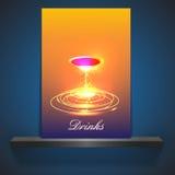 Иллюстрация свежего coctail на красочной предпосылке Стоковые Изображения RF