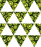 Иллюстрация свежей отрезанной флага треугольника кивиа картины геометрического безшовной для вашего дизайна Стоковые Фото