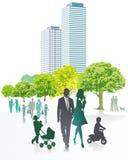 Иллюстрация семьи на отдыхе Стоковые Изображения