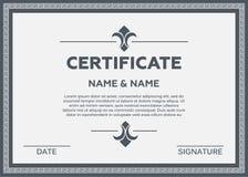 Иллюстрация сертификата Стоковые Изображения RF