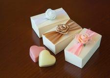 иллюстрация сердца конструкции шоколада 3d графическая представила Стоковые Фотографии RF