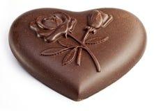 иллюстрация сердца конструкции шоколада 3d графическая представила Стоковое Изображение RF