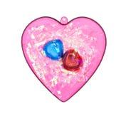 иллюстрация сердца конструкции шоколада 3d графическая представила Стоковые Изображения