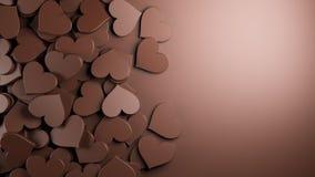 иллюстрация сердца конструкции шоколада 3d графическая представила Стоковая Фотография RF