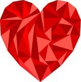 Иллюстрация сердца полигона Стоковые Изображения