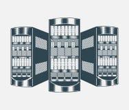 Иллюстрация сетевого сервера Стоковые Фотографии RF