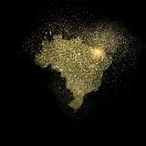Иллюстрация символа концепции яркого блеска золота Бразилии Стоковое Фото