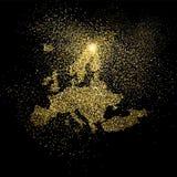 Иллюстрация символа концепции яркого блеска золота Европы Стоковая Фотография
