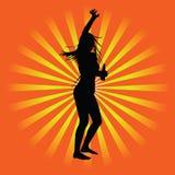 Иллюстрация силуэта вектора партии девушки иллюстрация вектора
