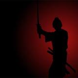 Иллюстрация силуэта самурая иллюстрация штока