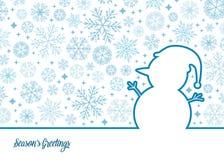 Иллюстрация снеговика вектора Стоковое Изображение