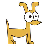 иллюстрация собаки конструкции шаржа предпосылки Стоковое фото RF