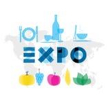 Иллюстрация 2015 события экспо Стоковая Фотография